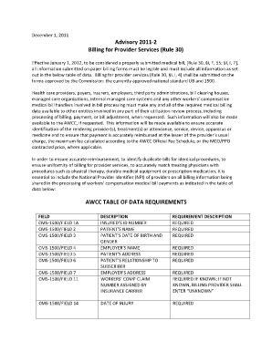arkansas workers compensation billing cms 1500 fill