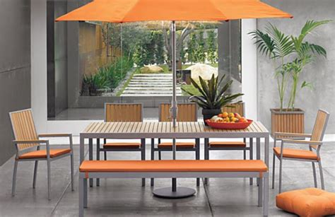 orange outdoor furniture cheerful outdoor furniture and fabrics at home with