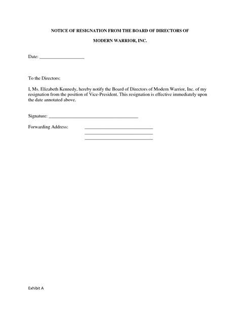 board resignation letter sample format profit