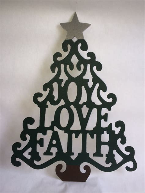 metal christmas tree metal wall hanger home decor