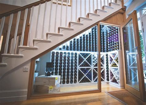 wine storage under stairs life below stairs how to get the most out of that awkward