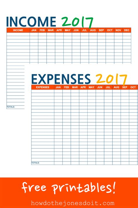 Income And Expense Printables Spending Ledger Template