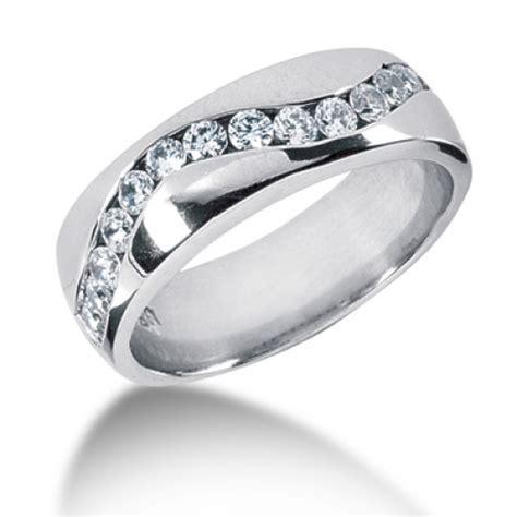 Set Cenel 14kt palladium platinum mens wedding band mr1204
