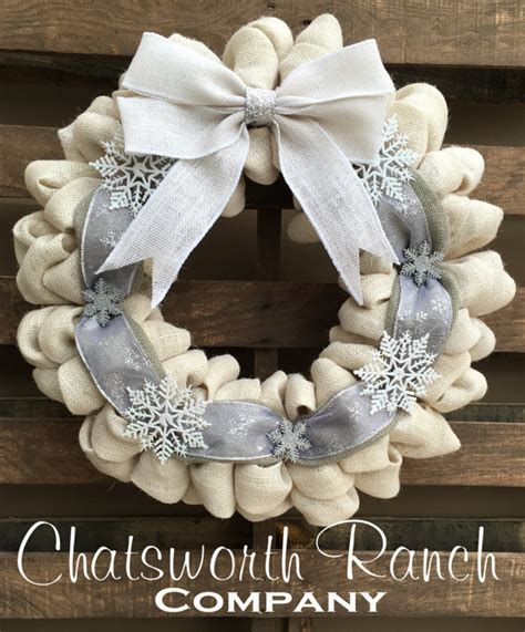 elegant burlap and snowflake wreath fynes designs snowflake burlap wreaths christmas wikii