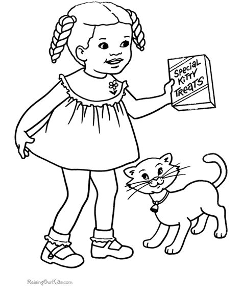 cat boy coloring page free printable cat coloring page