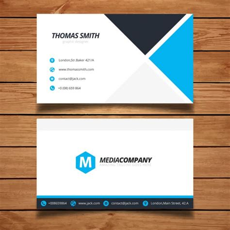 free vector business card templates modern minimal business card template vector free
