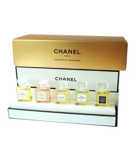1 Set Chanel Import chanel fragrance wardrobe miniature gift set of 5 five parfum chanel no 5 coco mademoiselle
