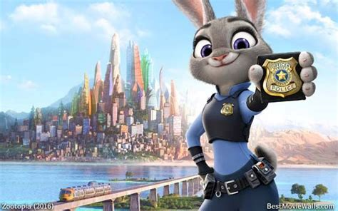 disney zootopia wallpaper judyhopps from zootopia and her badge reads quot police