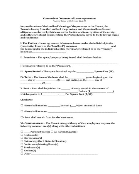 printable lease agreement ct connecticut commercial lease agreement edit fill sign