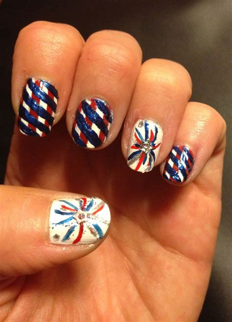 red acrylic 4th of july nils 25 very beautiful fourth of july fireworks nail art designs