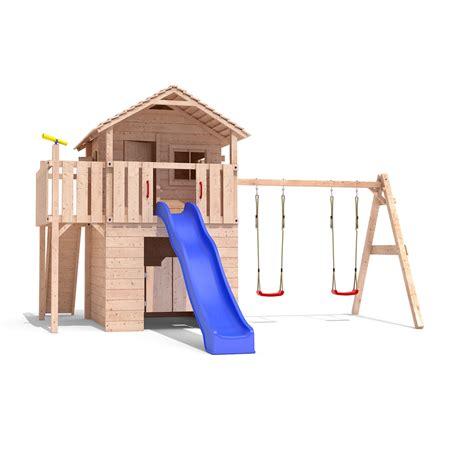 swing slide climbing frame funturio playtower climbing frame slide swings treehouse
