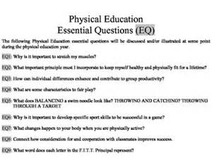 physical education worksheets for middle