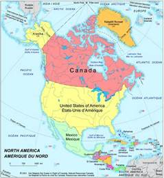 canada and america map america political map