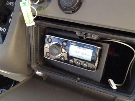 fusion boat stereo review fusion marine stereo ms ra200 kawasaki mule 610 xc