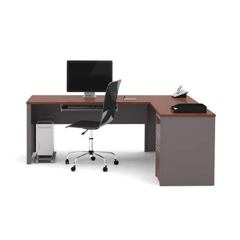 Bestar Connexion L Shaped Desk Bestar Connexion L Shaped Workstation With 1 Pedestal In Bordeaux 93880 39