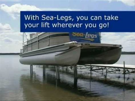 sea legs pontoon sea legs demo video by bricks boatworks inc youtube