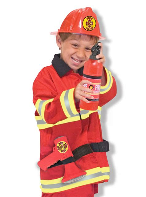 firefighter costume doug chief play costume dress up set doug