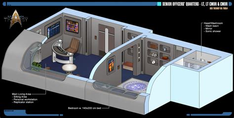Aircraft Carrier Floor Plan by Senior Officers Quarters Star Trek Theurgy By Auctor