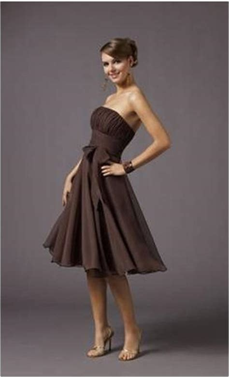 Brown Dress strapless brown dresses
