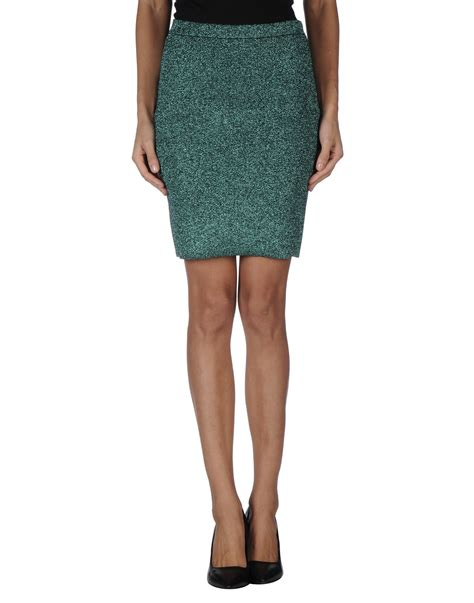 wang knee length skirt in green lyst