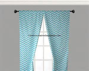 Aqua Blue Curtains Chevron Curtain Panels Pool Aqua Blue And By Exclusiveelements