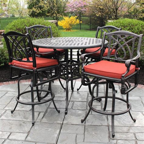pub height patio furniture grand terrace bar height