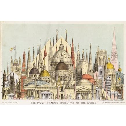 well known architects montage entitled the most famous buildings in the world