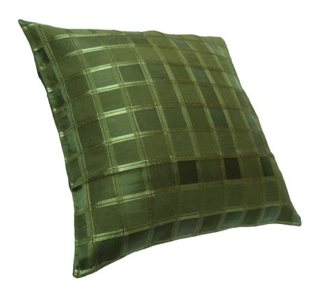 kissen mit reißverschluss 2er pack kissenh 252 lle 40x40 cm organza gr 252 n oliv kariert
