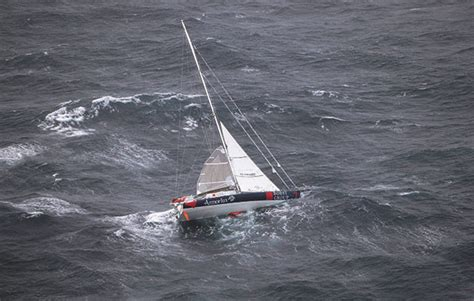 catamaran sailing heavy seas get out of that heaving to in strong winds yachting world