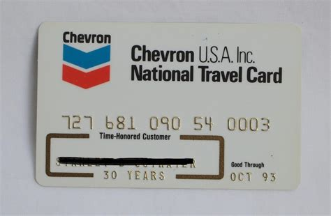 Gulf Gas Card Gift - chevron usa inc gas travel credit card 1993 expired unsigned vintage ebay