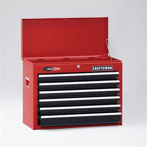 craftsman 6 drawer tool box quiet glide chest new craftsman 26 quot wide 6 drawer quiet glide 174 top chest