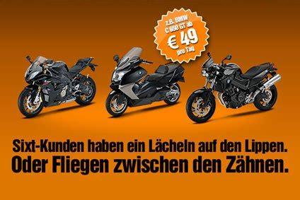 Motorrad Vermietung Deutschland by Sixt Startet Motorradvermietung In Deutschland Mietwagen