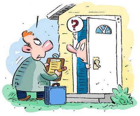 stock illustration door to door sales