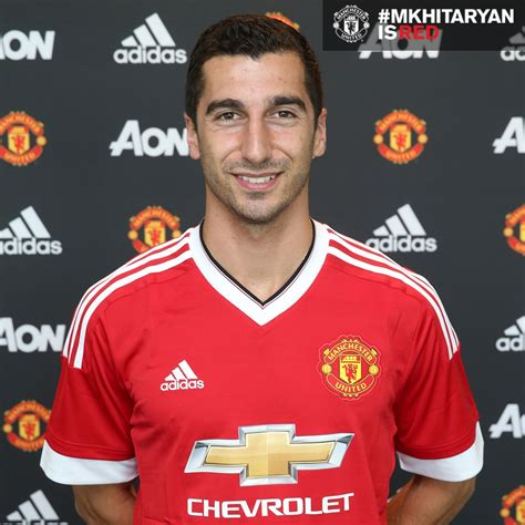 www man u new signing for 2016 henrikh mkhitarayan signs for manchester united official