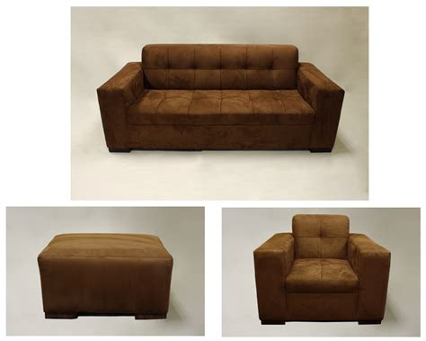 chocolate brown suede ottoman signature rentals faux suede brown sofa chair