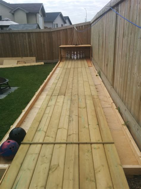 diy backyard bowling alley home design garden