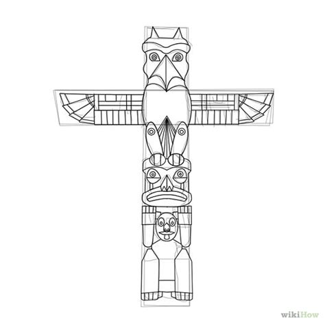 Free Coloring Pages Of Tiki Totem Totem Pole Colouring Pages