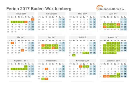 Ferienkalender 2018 Baden W Rttemberg Ferien Baden W 252 Rttemberg 2017 Ferienkalender Zum Ausdrucken