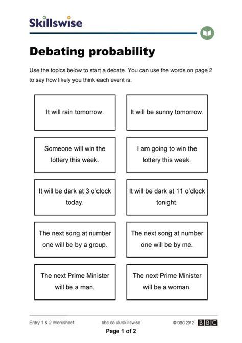 debating probability