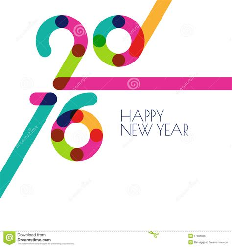 new year creative greetings happy new year 2016 colorful flat design vector