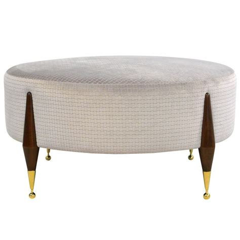 ottoman coffee table round imperial ball foot ottoman or coffee table mesas round