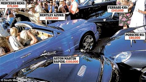 Hapless blonde crashes £250k Bentley into FOUR other