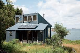Tiny off grid cabin in maine is completely self sustaining maine coast