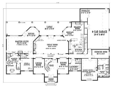 Luxury Style House Plans 6388 Square Foot Home 2 Story One Story House Plans 5000 Square