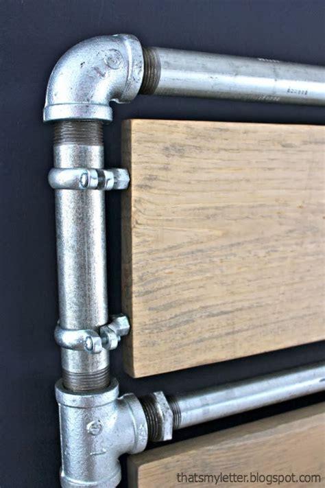 that s letter diy pipe wood slats bed