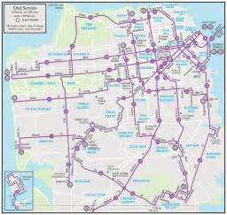 San Francisco Bus Map by San Francisco Night Bus Map Owl Mapsof Net