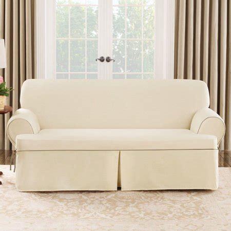 fit cotton duck sofa  cushion slipcover walmartcom