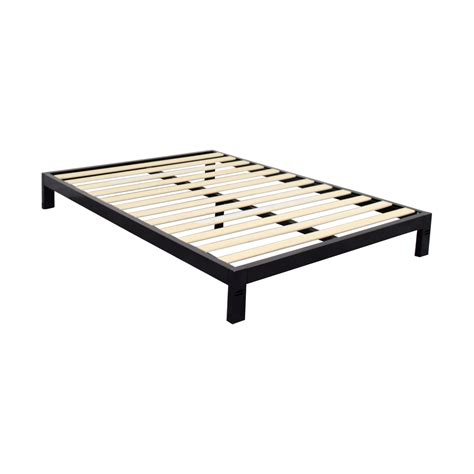 black bed frame queen 85 off black metal queen platform bed frame beds
