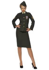 40s army officer costume womens
