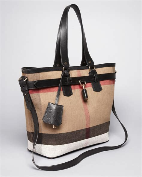 Burberry Check Canvas Tote by Burberry Brit Tote Canvas Check Medium Traveler In Brown